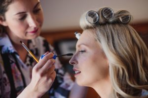 Christina's makeup look for her wedding in Peacehaven