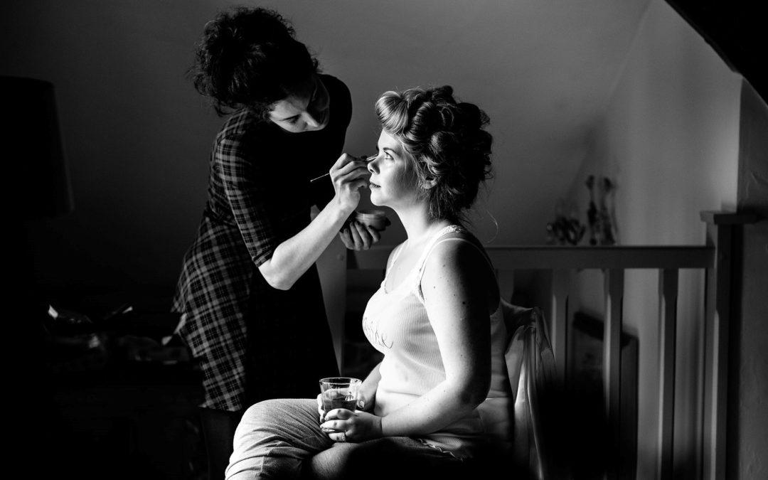 Louisa | Upwaltham Barns | West Sussex Bridal Makeup | Kimberley Louise Makeup